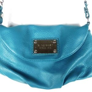 Nine West Teal Purse Shoulder Strap Bag